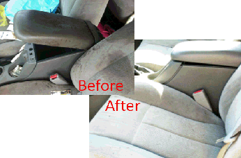 seats before and after detailing