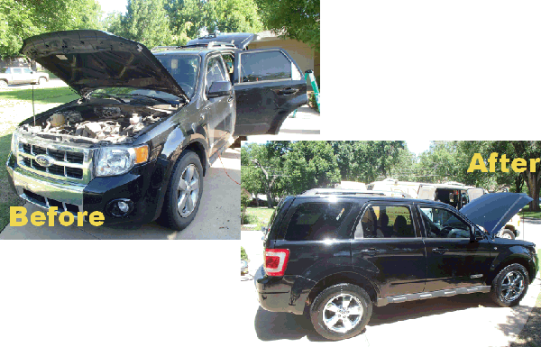 ford suv exterior before and after detailing